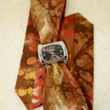 Cotton fabric wrap watch