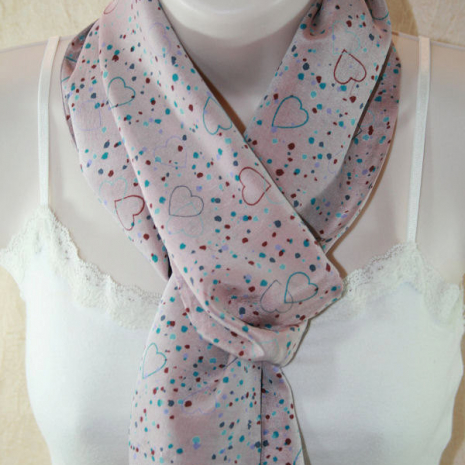 Dusky Pink Recycled Silk Scarf