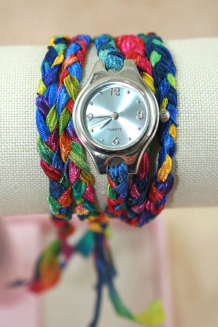 Wraparound wrist watch