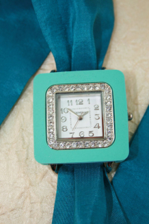 Turquoise scarf wrap watch