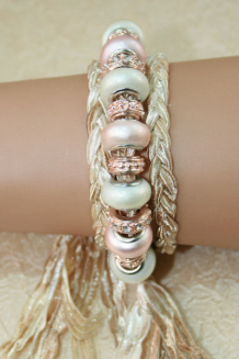 Bradied wrap bracelet or necklace