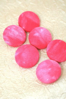 Pink silk covered buttons