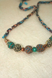 Braided Big Bead Necklace